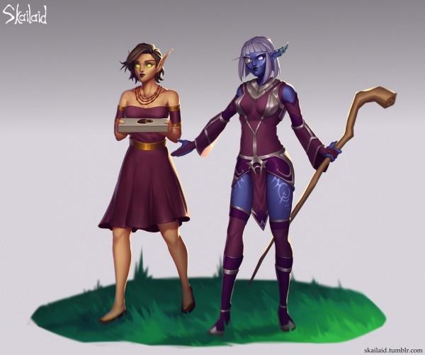 Tris & Leilah by Skailaid